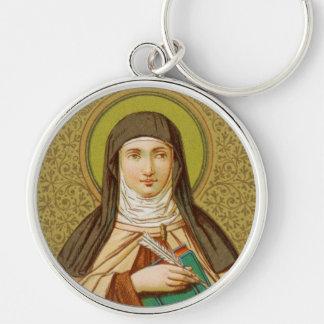 St. Teresa of Avila (SNV 27) Premium Round Key Ring