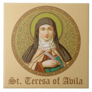 St. Teresa of Avila (SNV 27) (Round Image) Tile