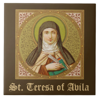 St. Teresa of Avila (SNV 27) (Square Image) Ceramic Tile