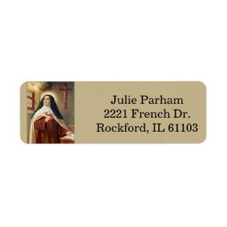 St. Theresa Teresa of Avila Return Address Label