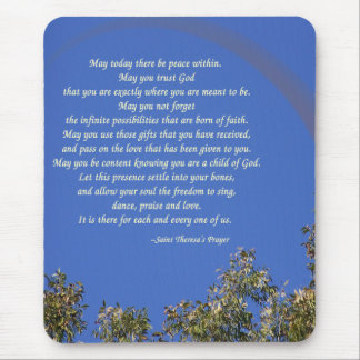St. Theresa's Prayer Mouse Pad