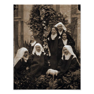 St. Therese and The Nuns of Lisieux. Poster