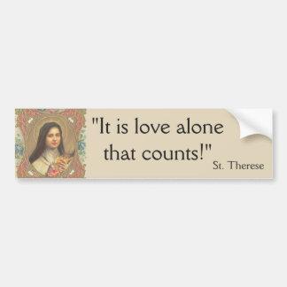 St. Therese Crucifix Nun Little FLower Bumper Sticker