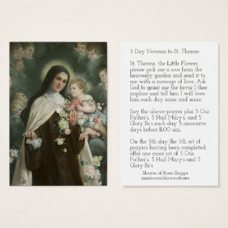 St. Therese Jesus Crucifix Novena Angels Roses Business Card