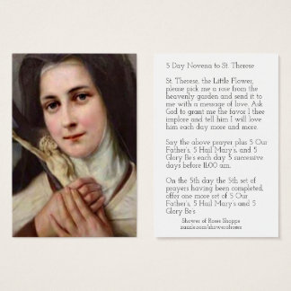 St. Therese Jesus Crucifix Novena Holy Card