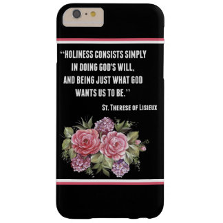 St. Therese Little Flower Pink Roses Flowers Barely There iPhone 6 Plus Case