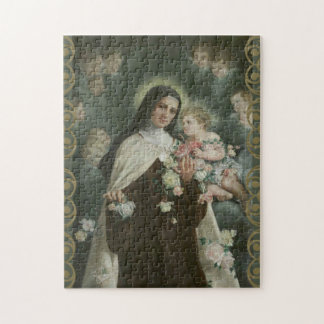 St. Therese Little Flower Roses Angels Cherubs Jigsaw Puzzle