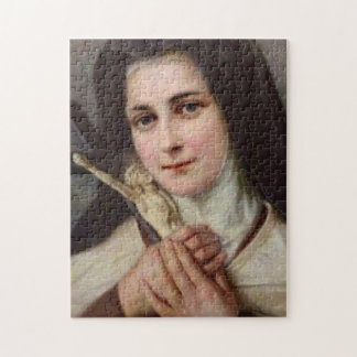 St. Therese Little Flower with Crucifix Jigsaw Puzzle