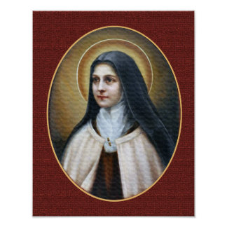 St Therese of Lisieux Portrait Poster