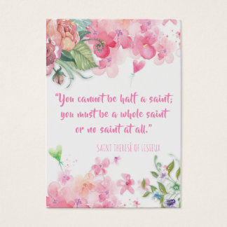 St. Therese of Lisieux Quote Roses Holy Card