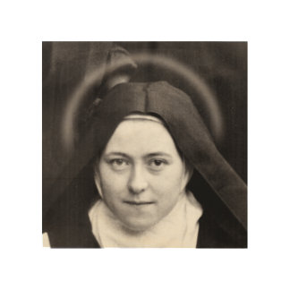 ST THERESE OF LISIEUX. WOOD PRINT