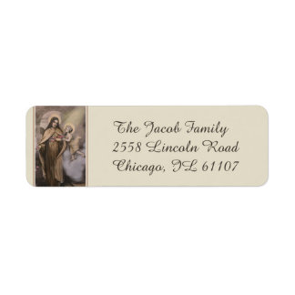 St. Therese of the Child Jesus Little Flower Return Address Label