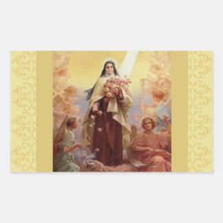 St. Therese the Little Flower Angels Rectangular Sticker