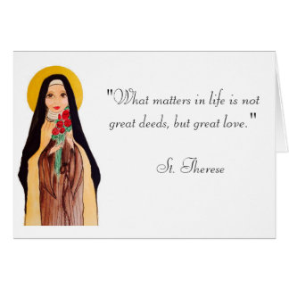 "St. Therese ""The Little Flower."" Card"