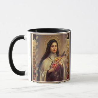 St. Therese the Little Flower Pink Roses Mug