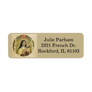 St. Therese the Little Flower Return Address Label