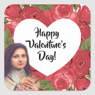 St. Therese Valentine's Day Stickers