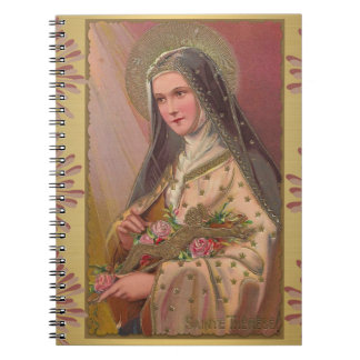 St. Therese with Roses & Crucifix Notebooks