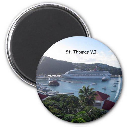 St. Thomas 6 Cm Round Magnet