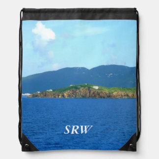 St. Thomas Arrival Monogrammed Drawstring Backpack