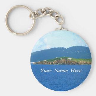 St. Thomas Arrival Personalized Basic Round Button Key Ring