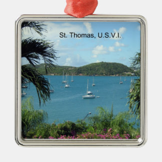 St. Thomas harbor view Metal Ornament