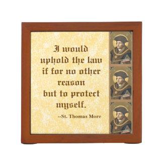 St. Thomas More (SAU 026) Famous Quote on Law Desk Organiser