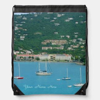 St. Thomas Sailboats Custom Drawstring Bag
