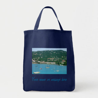 St. Thomas Sailboats Custom Grocery Tote Bag