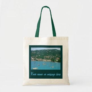 St. Thomas Sailboats Custom Canvas Bag