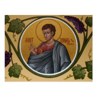 St. Thomas the Apostle Prayer Card Postcard
