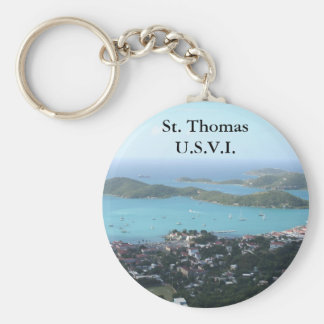 St. Thomas U.S.V.I. Basic Round Button Key Ring