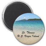 St. Thomas, U.S. Virgin Island 6 Cm Round Magnet