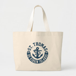 St. Thomas US. Virgin Islands Large Tote Bag