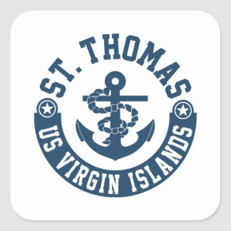 St. Thomas US. Virgin Islands Square Sticker