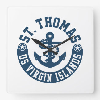 St. Thomas US. Virgin Islands Wall Clock