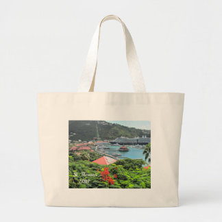 St. Thomas USVI Large Tote Bag
