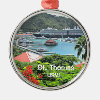 St. Thomas USVI Metal Ornament