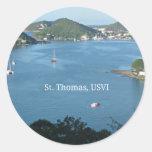 St. Thomas, USVI Round Stickers
