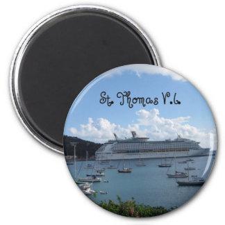 St. Thomas, V.I. 6 Cm Round Magnet