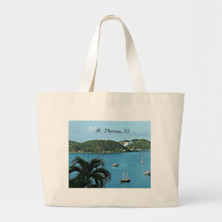 St. Thomas, VI Large Tote Bag