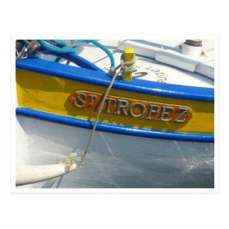 st tropez boat postcard