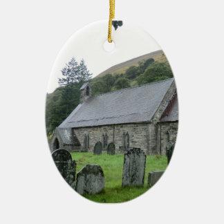 St Tydecho Llanmawddwy Church, Wales Ceramic Oval Decoration