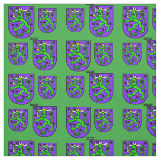 St. Urho Coat of Arms Purple Green Fabric