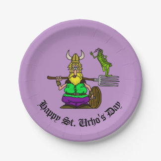St. Urho Grasshopper Peace Sign Paper Plates