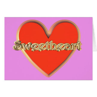 St. Valentine Day Happy Valentine's Day sweetheart Greeting Card