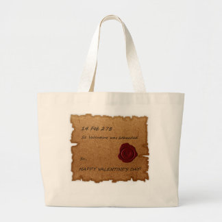 St. Valentine Historical Paper Stamped Tote Bags