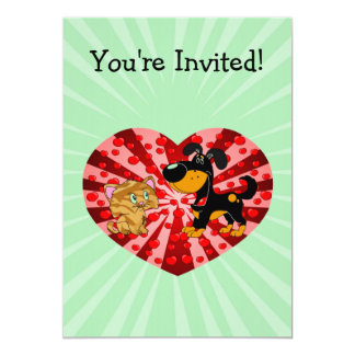 St. Valentine's Day 13 Cm X 18 Cm Invitation Card
