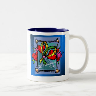 St. Valentine's Day 4 -- Blue Coffee Mugs