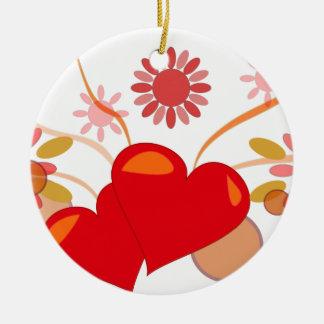 St. Valentine's day Ceramic Ornament